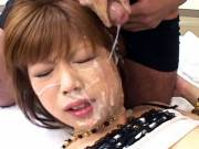 Miki Matsufuji hard fucking and bukkake